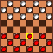 Q-Checkers mobile game Screenshot