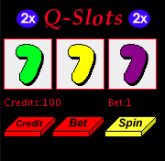Q-Slotmachine mobile game Screenshot