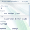 Q-CurrencyConverter mobile application Screenshot thumbnail